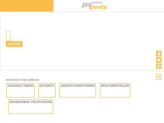 Screenshot von http://www.prodente.de